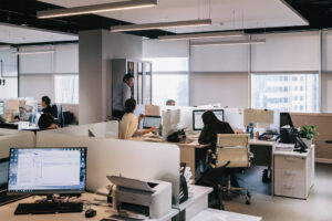 Workers in office